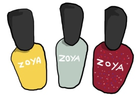 Zoya nail polishes