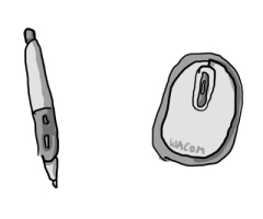 pen and mouse