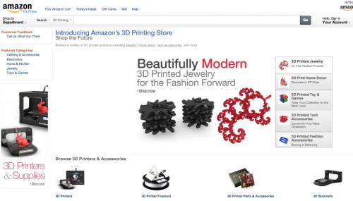 Amazon 3D Printing Shop