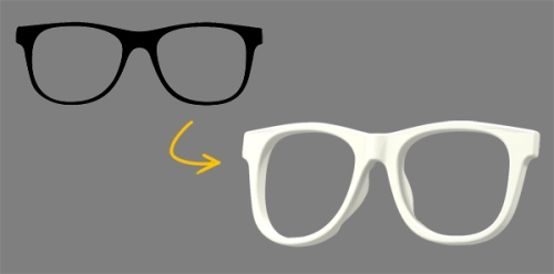 SVG to glasses