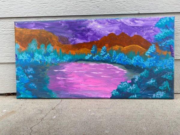 Jenny's Bob Ross painting